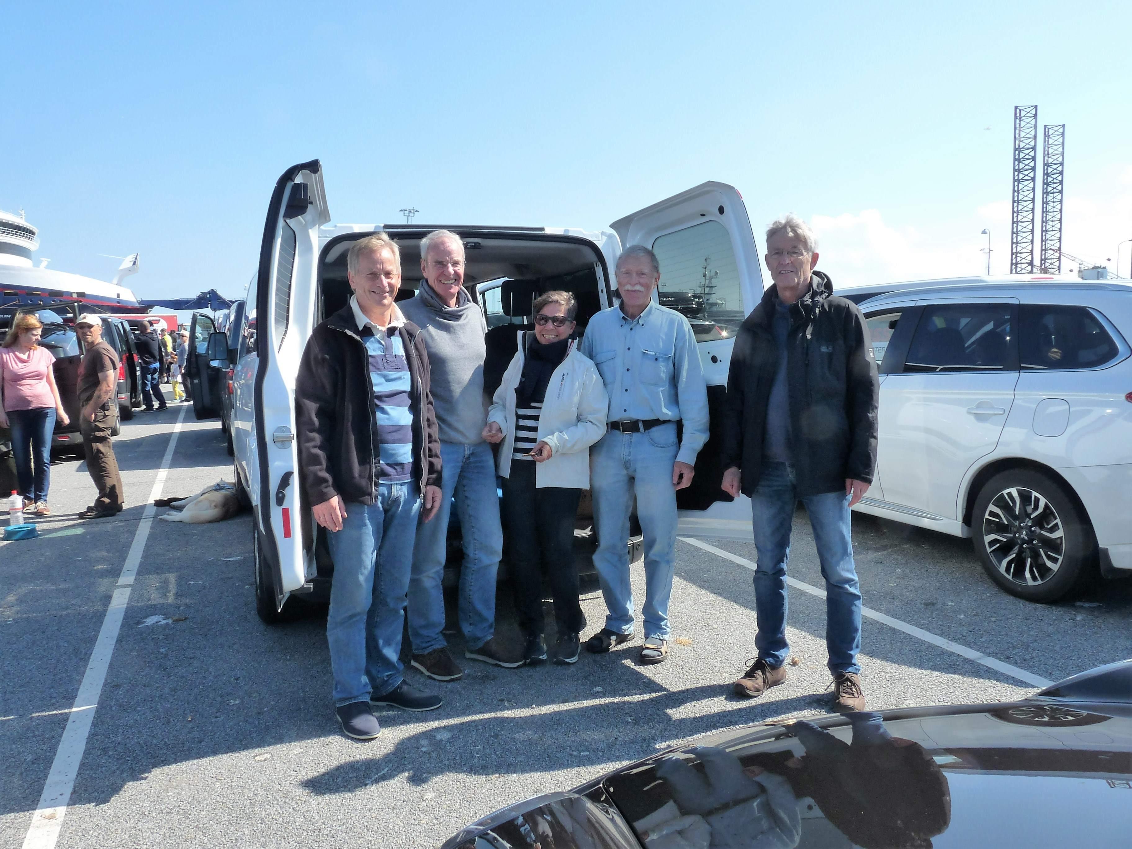 Crew wartet Auf Fähre in Hirtshals