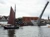 Einfahrt zum Stadthafen in Danzig